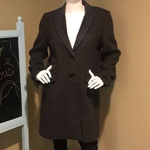 Charcoal herringbone wool coat by Laundry Sz12